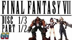 PS1 Final Fantasy VII Disc 1/3 Part 1/2 1997 (Console) PLAYTHROUGH