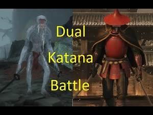 White Monkey Dual Katana vs Red Guard Dual Katana - Sekiro enemy battle