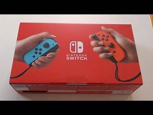 New Nintendo Switch Gaming System 2019 Unboxing