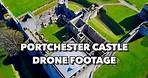 Portchester Castle, UK Drone Footage in Spectacular 4K