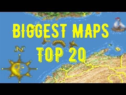 Video Game Maps Size Comparison (2020) Top 20 BIGGEST MAPS!