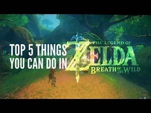 5 Things You Can Do in Breath of the Wild
