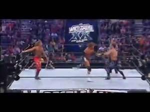 Triple H vs Shawn Michaels vs Chris Benoit WrestleMania 20 Highlights