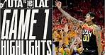 RUDY BLOCK at the BUZZER, take 1-0 lead over Clippers   UTAH JAZZ
