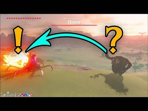 Hinox's SECRET Attack ABILITY in Zelda Breath of the Wild