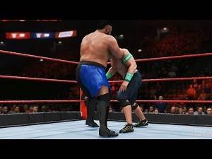 WWE 2K20 - Samoa Joe vs John Cena - Gameplay (PS4 HD) [1080p60FPS]