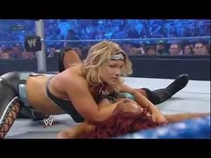WWE Smackdown 6/15/12 Beth Phoenix Vs Alicia Fox W/ Layla At The RingSide Table