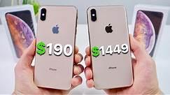 $190 Fake iPhone XS Max vs $1449 XS Max! (NEW)