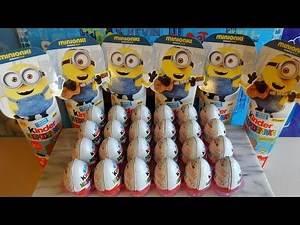 2015 Minions Movie 24 Kinder Surprise Eggs Toys - Huevos Sorpresa