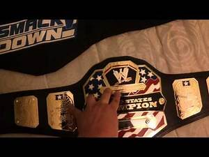 WWE US replica belt on custom Real leather strap+DVDs+Belt hanger SOLD