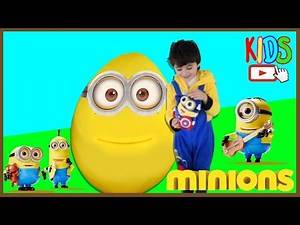 Minions Full Movie Toys GIANT SURPRISE EGG Easter with Avengers Spiderman 2015 Unboxing