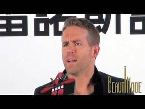"""Ryan Reynolds and Blake Lively's baby has the face of Hugh Jackman? """"Deadpool"""" Press Conference"""