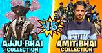 Ajjubhai Vs Amitbhai Desi Gamers Best Collection Who will Win - Garena Free Fire