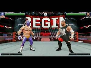 WWE Game full match Rey Mysterio vs Samoa Joe