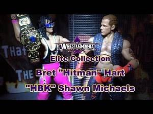 BRET HART VS SHAWN MICHAELS WWE Elite Flashback Action Figure Reviews