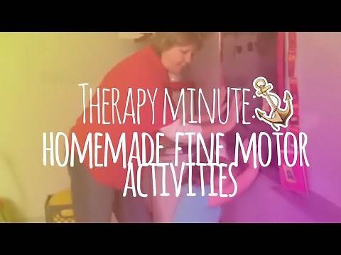 Therapy Minute: Homemade Fine Motor Activities