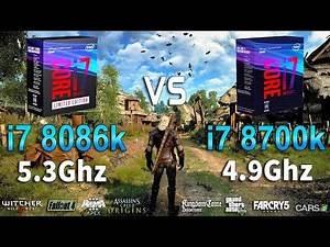 i7 8086k 5.3Ghz vs i7 8700k 4.9Ghz Test in 8 Games