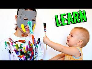 Learn Colors with Painting for Children - Funny for Kids   Learn Colours