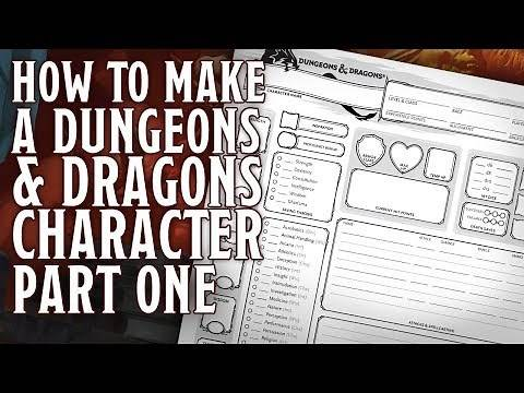 Part 1 - How to make a Dungeons and Dragons 5th Edition Character (Rolling Stats, Race Class)