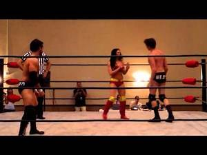 Santana Garrett in the Final 3 of the Cruiserweight Championship Gauntlet Games