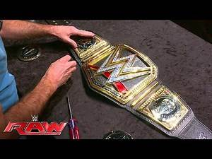 History is made as Dean Ambrose's custom plates are added to the WWE World Heavyweight Championshi..