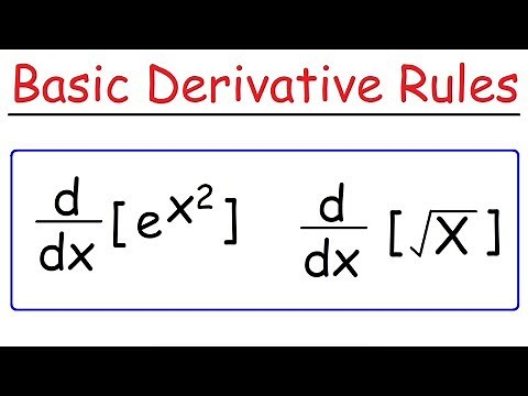 Basic Differentiation Rules For Derivatives