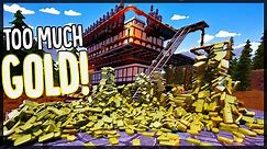 Building A Gold Bar Mountain Because I'm Insane - Ram Drill Gold Mining Factory - Hydroneer