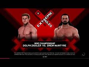 WWE 2K20 Drew Mcintyre VS Dolph Ziggler 1 VS 1 Extreme Rules Match WWE Title