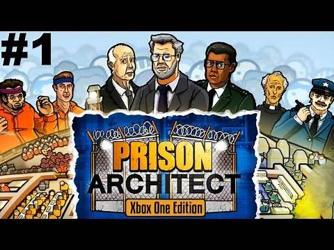 """Prison Architect (Xbox One, PS4) Part #1 """"Building Fort Fairlife"""""""
