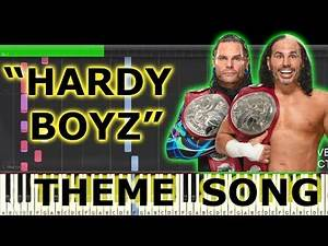 HARDY BOYZ | MATT & JEFF HARDY | Wwe | Theme |Song | 'Wwe Tag Team Champion' | Piano | Tutorial Midi
