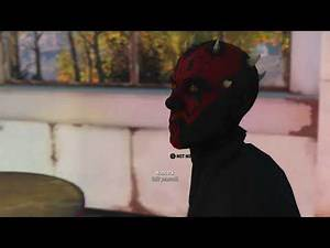 Fallout 4 (Xbox One) Hancock goes to the Dark Side (Darth Maul Outfit Mod) (Modded)