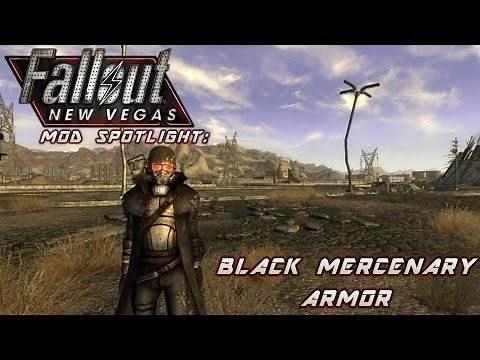 Mod Spotlight: Black Mercenary Armor (Fallout: New Vegas)
