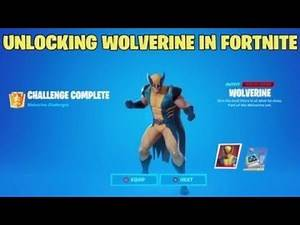HOW TO UNLOCK WOLVERINE IN FORTNITE - Defeat Wolverine - Kill Wolverine Challenge GUIDE