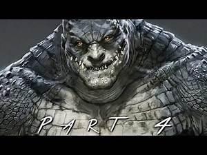 BATMAN RETURN TO ARKHAM (Arkham Asylum) Walkthrough Gameplay Part 4 - Killer Croc (PS4 Pro)