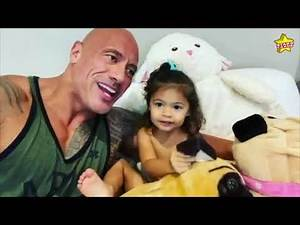 """Dwayne """"The Rock"""" Johnson still unable to convince his young girl, Tia, that he is Maui from 'Moana'"""