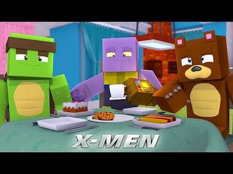 THANOS IS OUR FRIEND??? w/Tiny Turtle - Minecraft X-Men