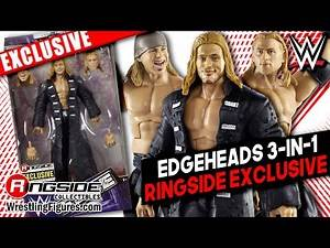 Ringside Exclusive Edgeheads 3 in 1 Mattel WWE Elite Figure! Edge, Curt Hawkins & Zack Ryder!