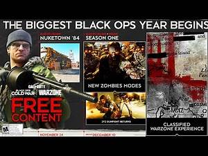 MAJOR Black Ops Cold War Season 1 REVEAL! NEW ZOMBIES MAPS & MODES, NEW WARZONE MAP, NUKETOWN 84!