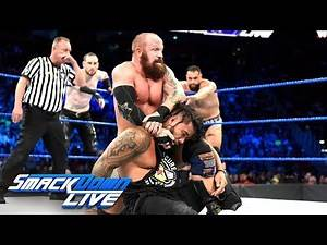The Usos vs. Rusev Day vs. SAnitY - Triple Threat Tag Team Match: SmackDown LIVE, Sept. 4, 2018