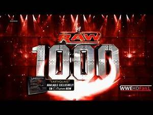 WWE Raw 1000th Episodes - Official Theme Song - 'Earthquake'