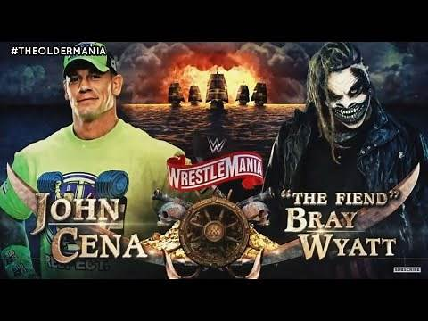 WWE Wrestlemania 36 Official Match Card V1