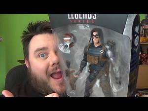 Marvel Legends Winter Soldier Black Widow Movie Wave Crimson Dynamo BAF Hasbro Action Figure Review