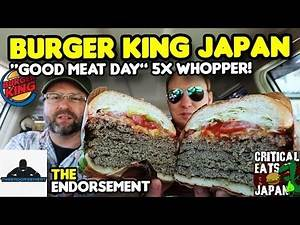 "Burger King Japan: Massive ""Good Meat"" Whopper! 
