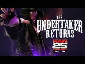WWE Raw 25 2018 - The Undertaker Returns To RAW - Official Promo Card