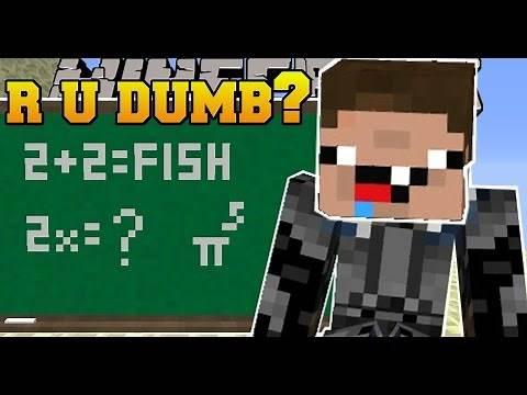 Minecraft: R U DUMB? (10 IMPOSSIBLE QUESTIONS!) - Custom Map