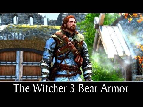 Skyrim Special Edition: ▶️The Witcher 3 Bear Armor◀️ Mini Mod Showcase