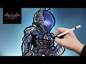 DRAWING BATMAN ARKHAM KNIGHT!