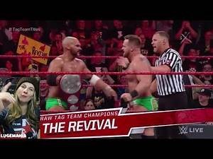 WWE Raw 2/11/19 Tag Team Championship Match