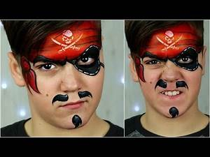 How to face paint a PIRATE 🚩☠️ Easy Makeup Tutorial