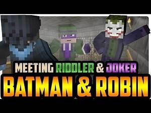 Minecraft SuperVillains: Meeting Joker and Riddler! Batman and Robin!